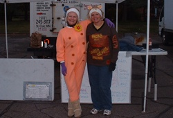 Halloween at the market with Dawn and Dianne