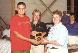 15 yr old Paul receiving MN Best Award at World Pork Expo 2000.